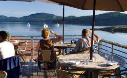dining with a view on orcas island