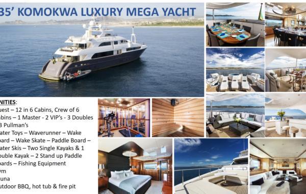 135' Komokwa Luxury Mega Yacht
